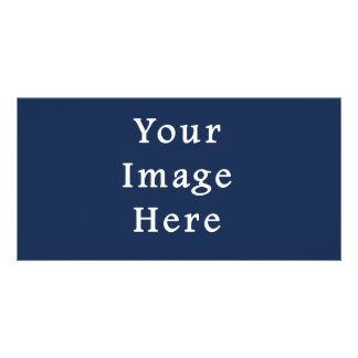 Deep Monaco Blue Color Trend Blank Template Photo Card Template
