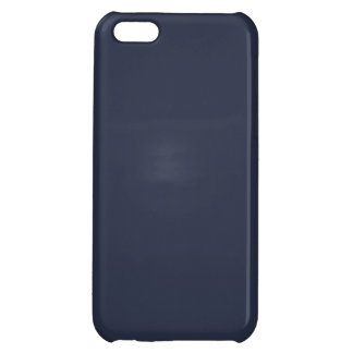 Deep Navy Blue Color Trend Blank Template iPhone 5C Covers