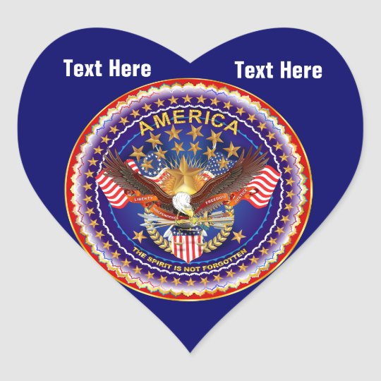 Deep Navy Blue Heart Sticker