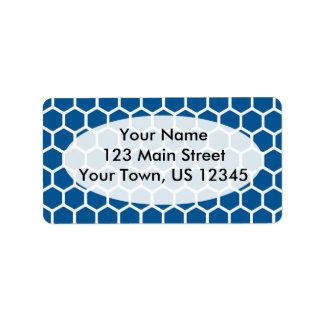 Deep Ocean Hexagon 2 Address Label