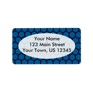 Deep Ocean Hexagon 4 Address Label