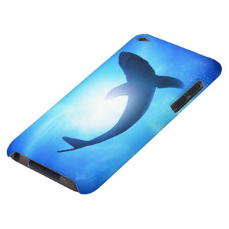 Deep Ocean Shark Silhouette Barely There iPod Case