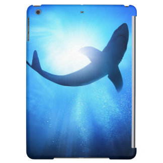Deep Ocean Shark Silhouette Cover For iPad Air