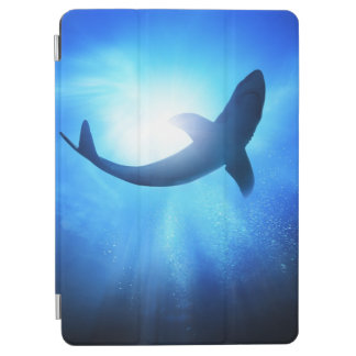 Deep Ocean Shark Silhouette iPad Air Cover