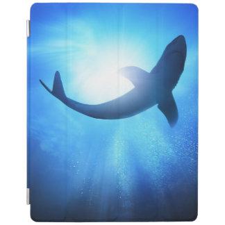 Deep Ocean Shark Silhouette iPad Cover