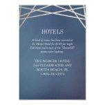 Deep Opaline Wedding Invitation Hotel Extra Card