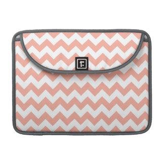 Deep Peach Chevron; zigzag Sleeve For MacBook Pro