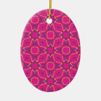 Deep pink2 christmas ornament