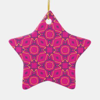 Deep pink2 christmas ornament