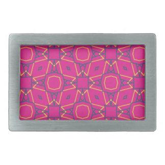Deep pink2 rectangular belt buckles