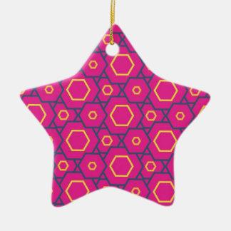 Deep pink4 christmas ornament