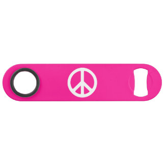 Deep Pink and White Peace Symbol