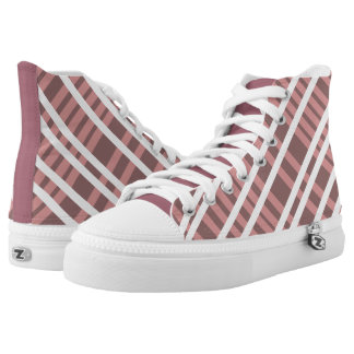 Deep Pink Candy-Stripe Hightops