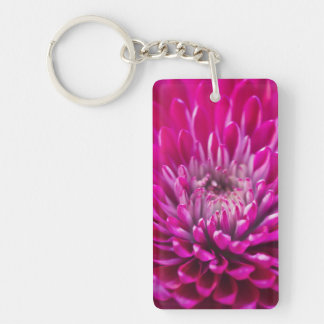 Deep Pink Chrysanthemum Keychain