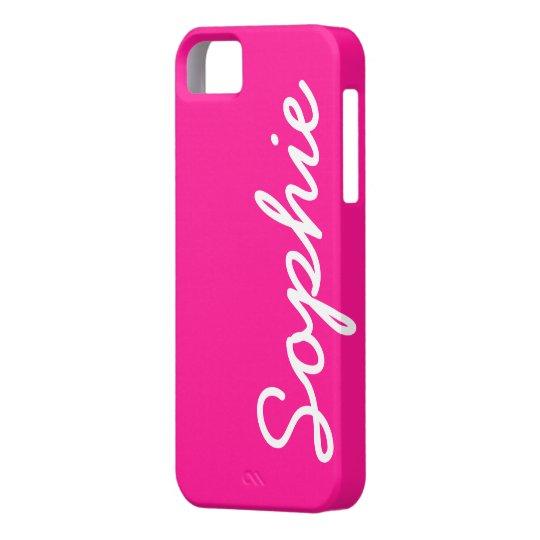 Deep Pink Customisable Feminine iPhone 5 Case