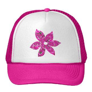Deep Pink Flowers Hat