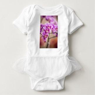 Deep Pink Phalaenopsis Orchid Flower Chain Baby Bodysuit