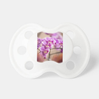 Deep Pink Phalaenopsis Orchid Flower Chain Pacifiers
