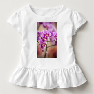 Deep Pink Phalaenopsis Orchid Flower Chain Toddler T-Shirt