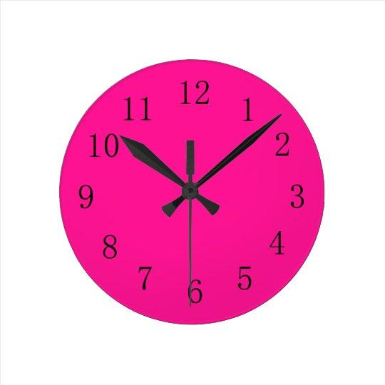 Deep Pink Round (Medium) Wall Clock
