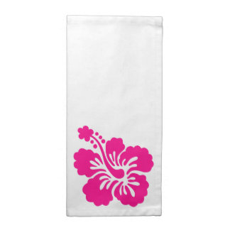 Deep Pink Tropical Hibiscus Flower Napkin