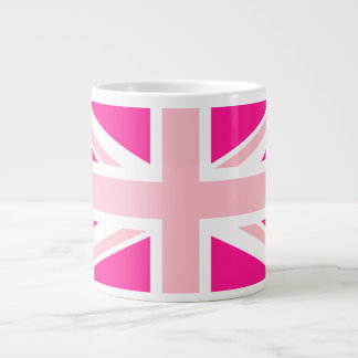 Deep Pink Union Jack Giant Coffee Mug