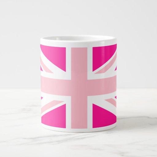 Deep Pink Union Jack Extra Large Mug