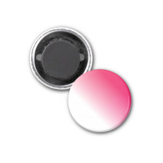 Deep Pink White Ombre 3 Cm Round Magnet