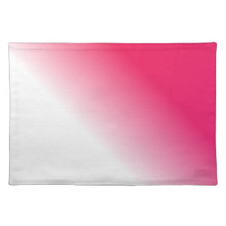 Deep Pink White Ombre Placemat