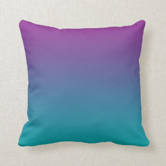 """""""Deep Purple And Teal Ombre"""" Throw Pillow"""