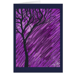 Deep Purple Autumn Tree Greeting Card