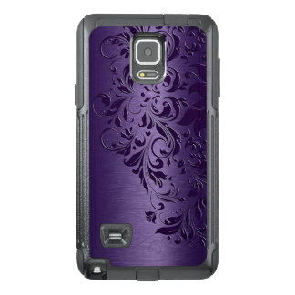 Deep Purple Background & Girly Floral Lace Edge
