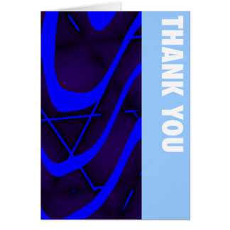 Deep Purple & Blue Thank You Card