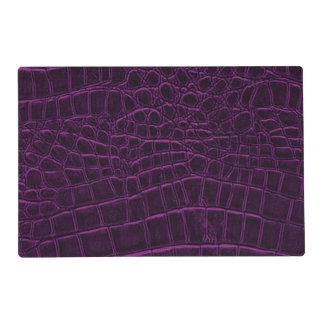 Deep Purple Custom Leather Texture Laminated Place Mat