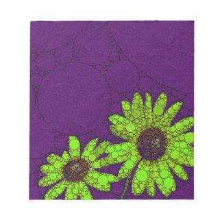 Deep Purple Florescent Sunflowers Notepad