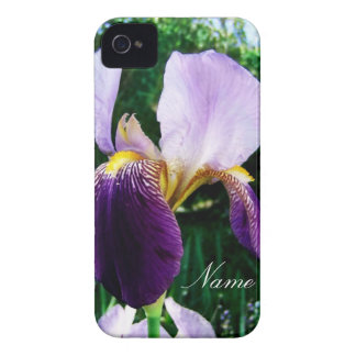 Deep Purple Iris Close Up Personalized iPhone Case Case-Mate iPhone 4 Cases