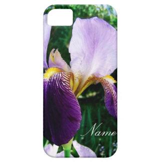 Deep Purple Iris Close Up Personalized iPhone Case iPhone 5 Case