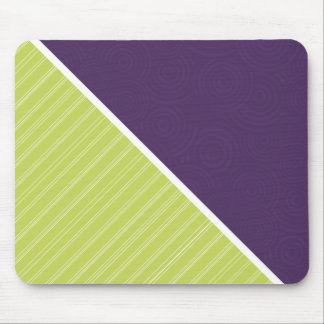 Deep Purple & Lime Green Mouse Pad