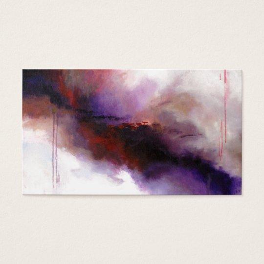 Deep Purple Modern Abstract (Kimberly Turnbull Art Business