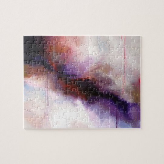 Deep Purple Modern Abstract -Kimberly Turnbull Art Jigsaw