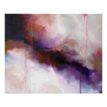 Deep Purple Modern Abstract -Kimberly Turnbull Art Poster