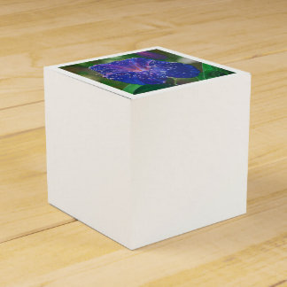 Deep Purple Morning Glory With Morning Dew Favour Box