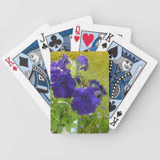 Deep Purple Petunia Designs Bicycle Poker Cards