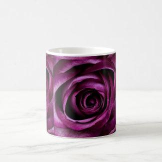 Deep Purple Rose Basic White Mug