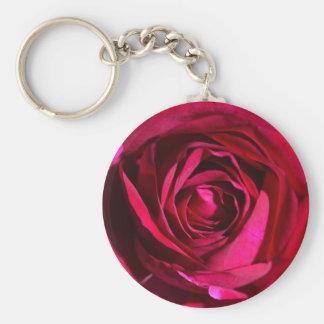 Deep Purple Rose Key Chain