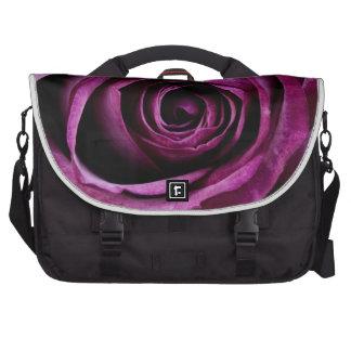 Deep Purple Rose Laptop Computer Bag
