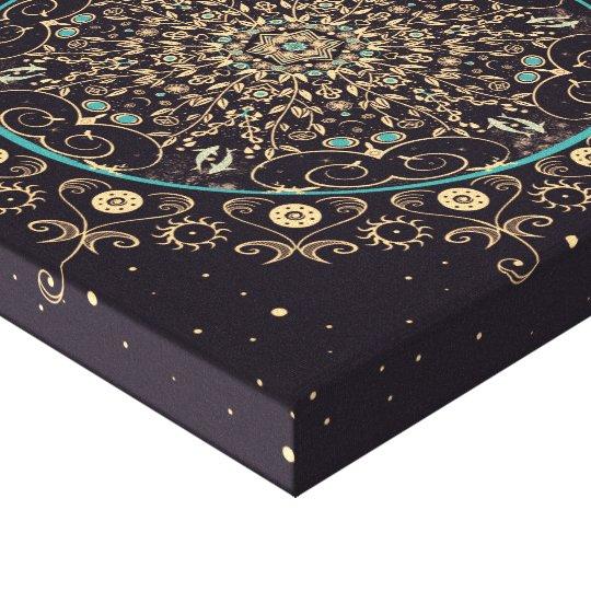 Deep Purple Sky Mandala Canvas Print