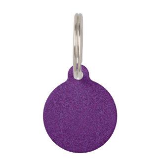 Deep Purple Sparkly Bits Pet Nametag
