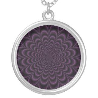 Deep Purple Succulent Necklace