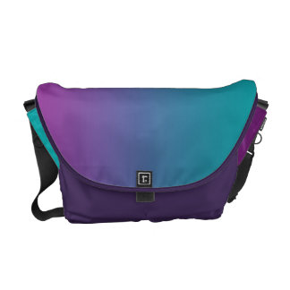 Deep Purple & Teal Ombre Commuter Bags